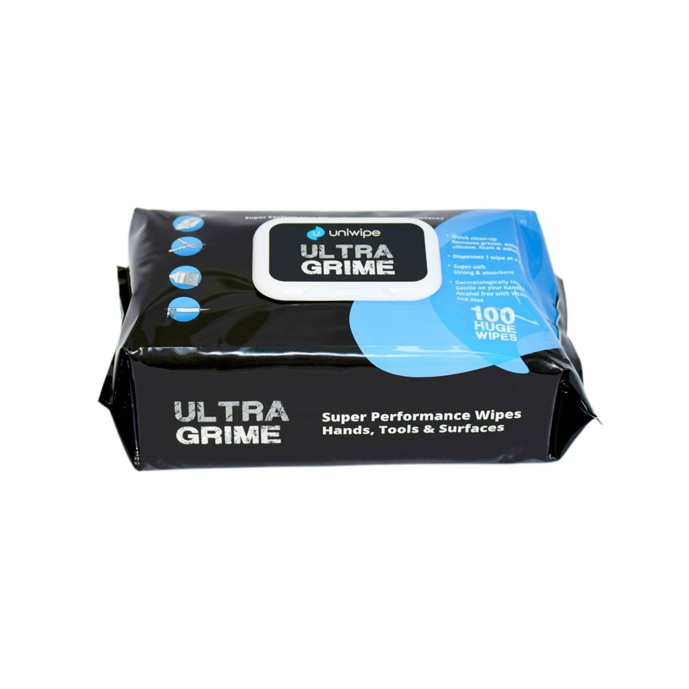 Uniwipe Ultragrime Industrial Wipes - Trade Pack - 100 Wipes