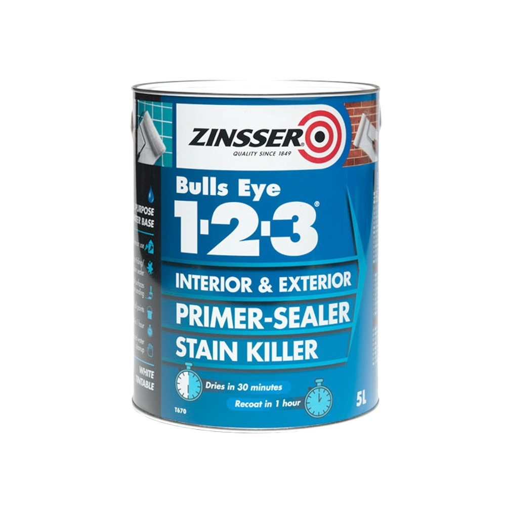 Zinsser Bulls Eye 1-2-3 Primer Sealer - 2.5L