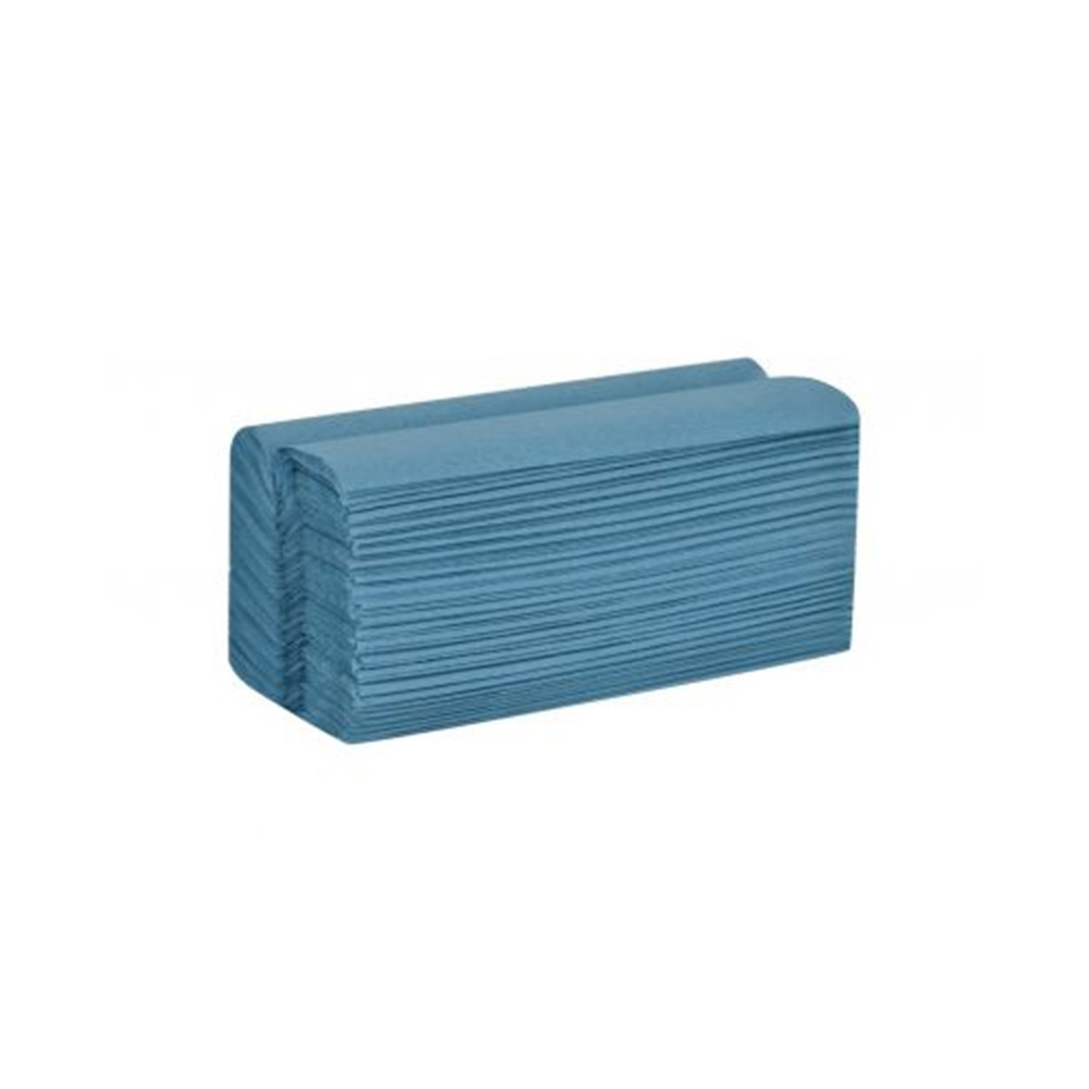 Blue C-Fold 1 Ply Hand Towels Box/20 Sleeves