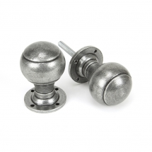 Anvil Pewter Regency Mortice Rim Knob Set