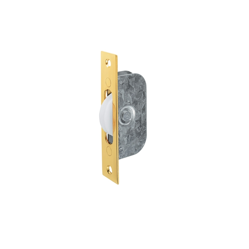 Sash Window 42mm Axle Pulley Brass/Nylon 117 x 25mm