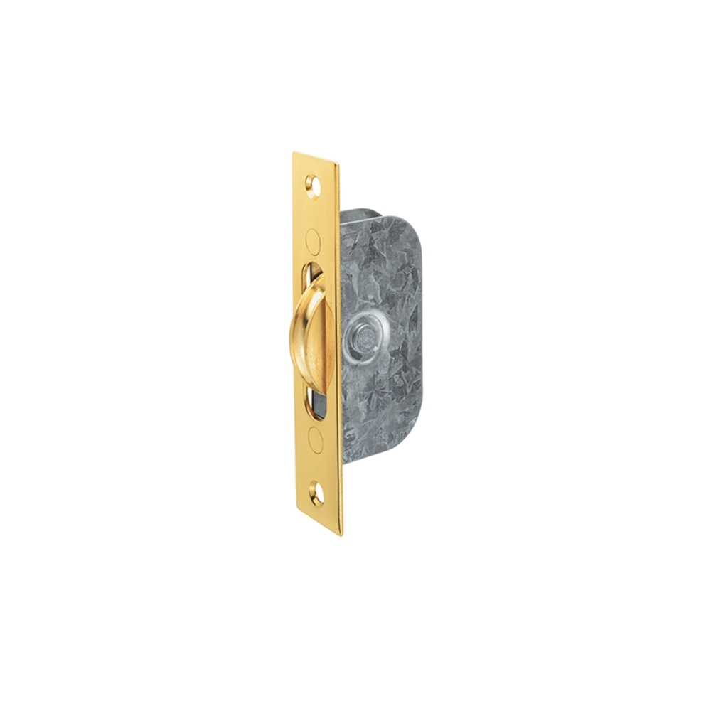 Sash Pulley 42mm Brass Wheel 117 x 25mm Polished Brass