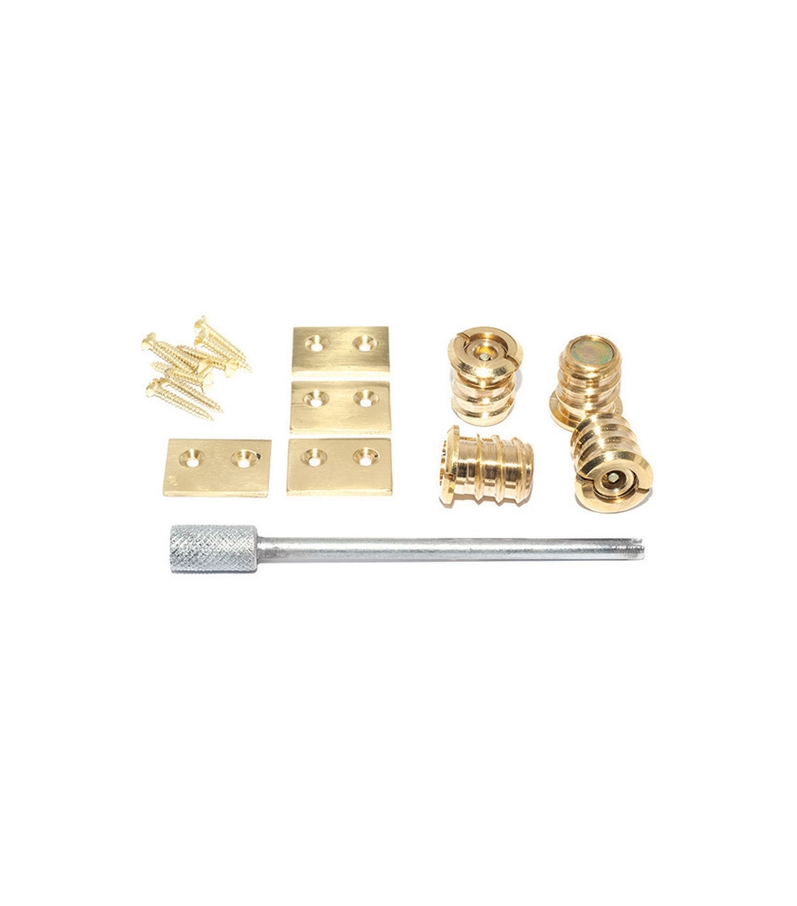 Screw In Flush Sash Stop 19mm Polished Brass - Pkt/4