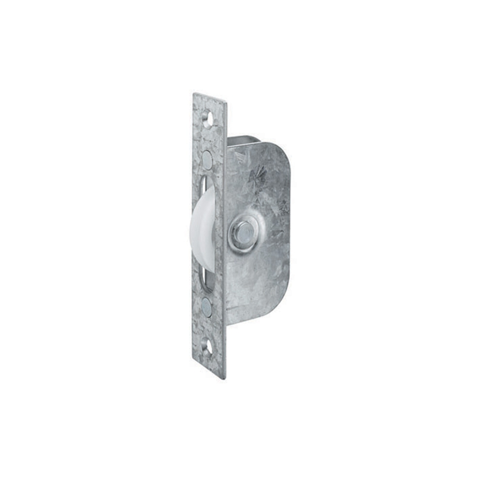 Sash Window 42mm Axle Pulley Galv/Nylon 117 x 25mm
