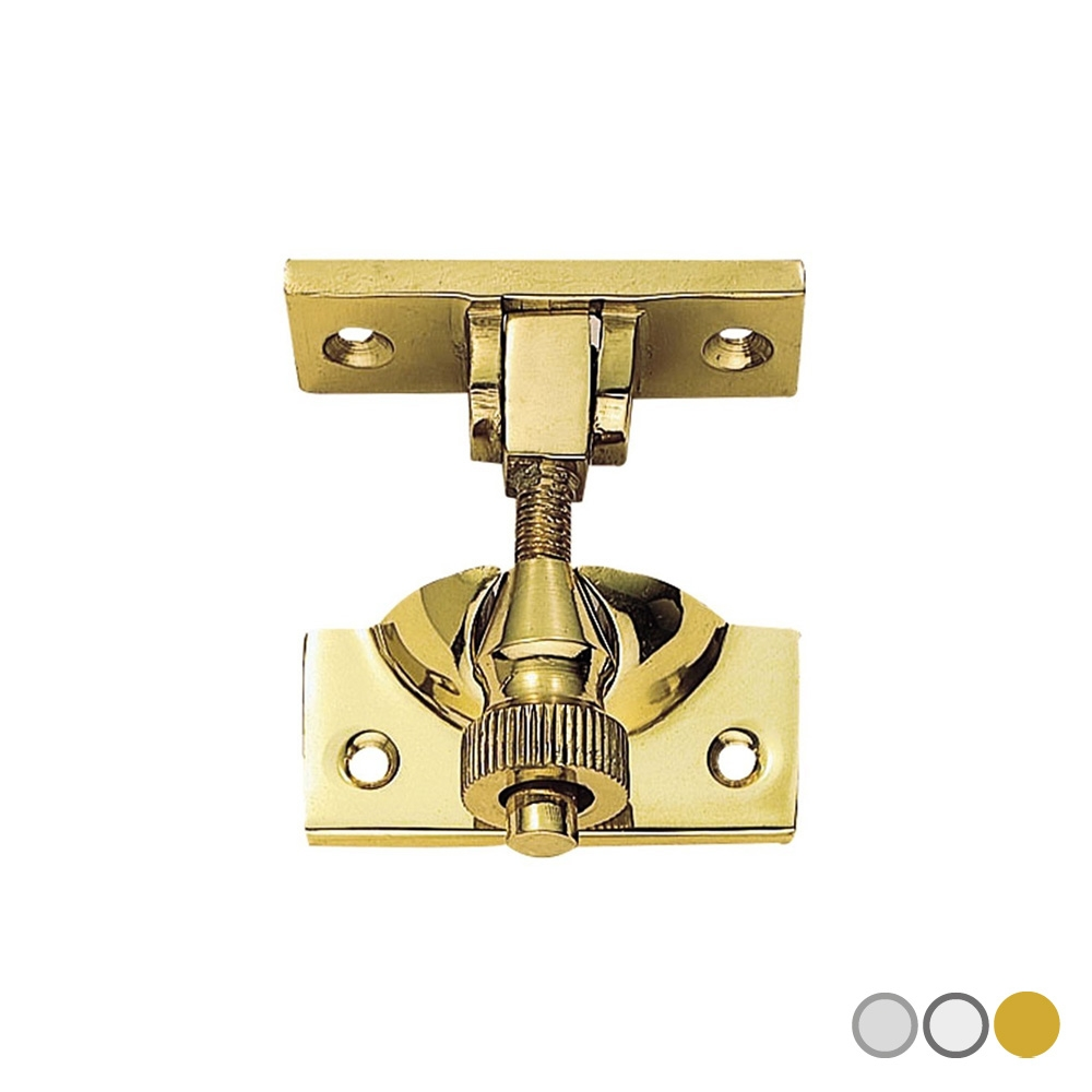 Brighton Pattern Sash Fastener Satin Chrome