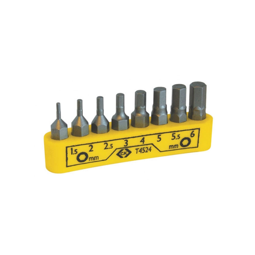 Screwdriver Bit Set - Hex - 1.5-6.0mm