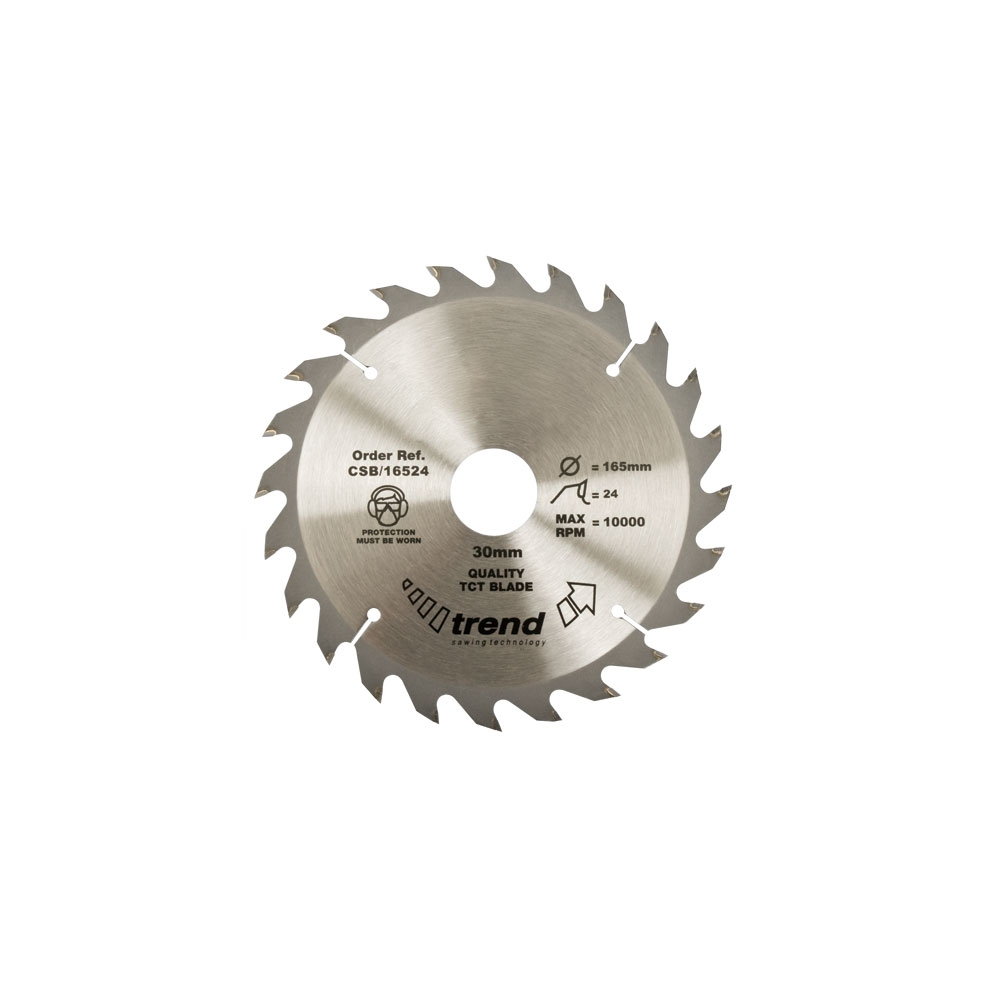 165 x 20 x 24 TCT Circular Saw bladeATB, Thin Kerf, Anti Kick