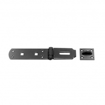 HS149H Heavy Pattern Hasp & We lded Staple Black - 10inch/250mm