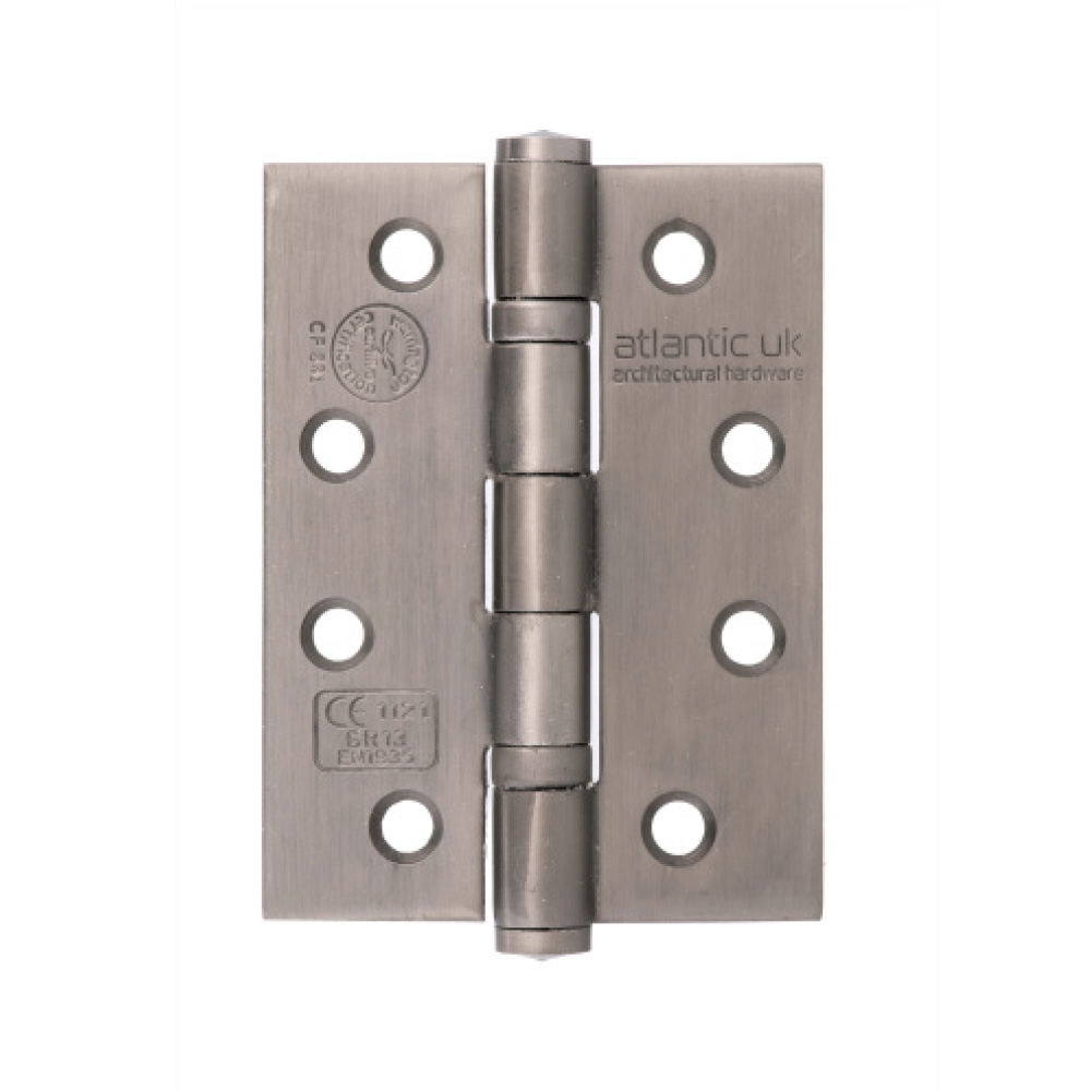 "4"" Ball Bearing Hinges - Forged Steel Pewter"