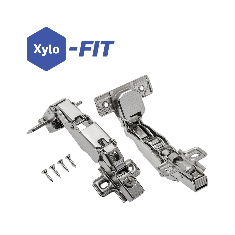 Xylo N1 165° Soft Close Clip Hinge c/w Plate - Pair