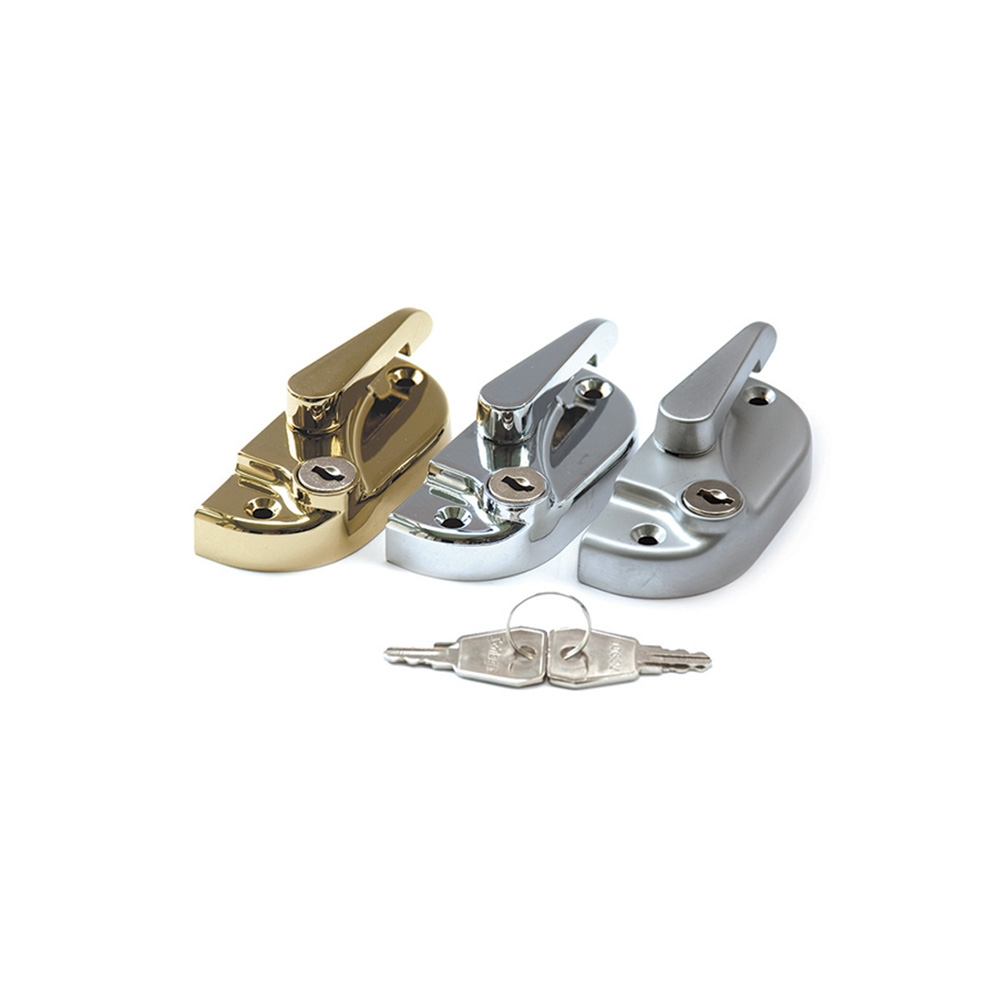 Modern Fitch Catch Locking c/w 8mm Keep Polished Chrome