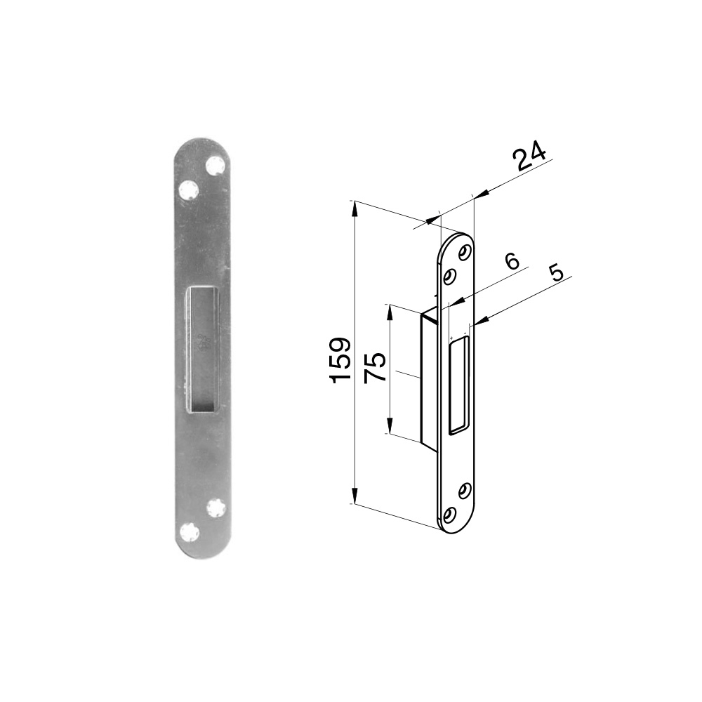 Winkhaus Flush Single Keep - Adjustable