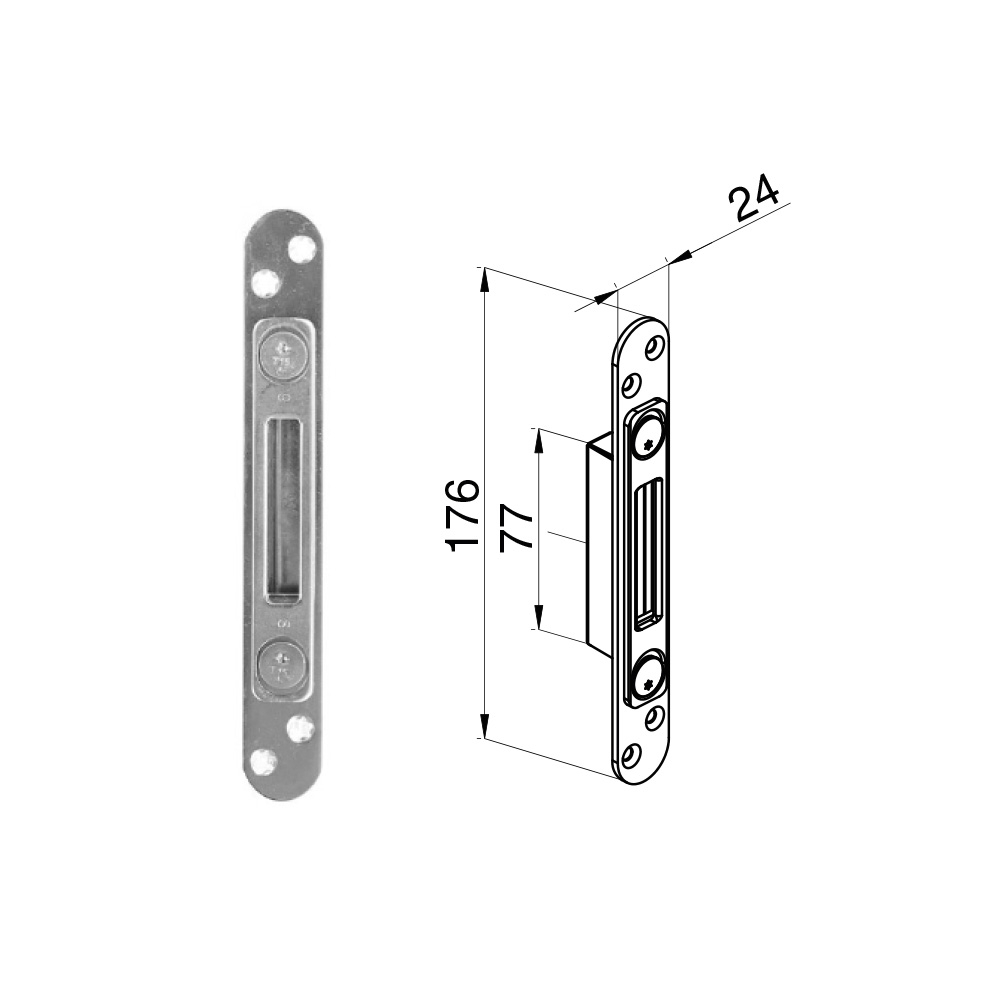 Winkhaus Single Keep - Radius End (44 & 57mm Doors)