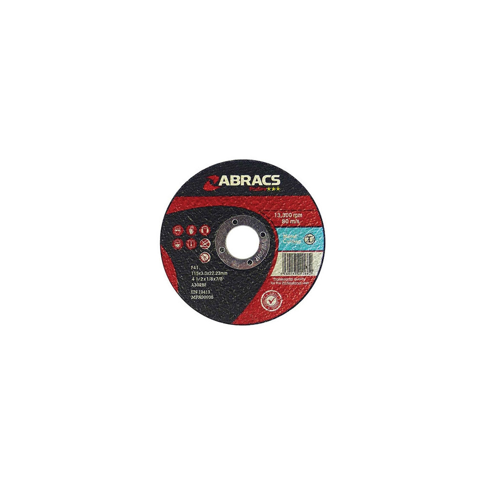Metal Flat Cutting Discs 115mm x 3mm x 22mm