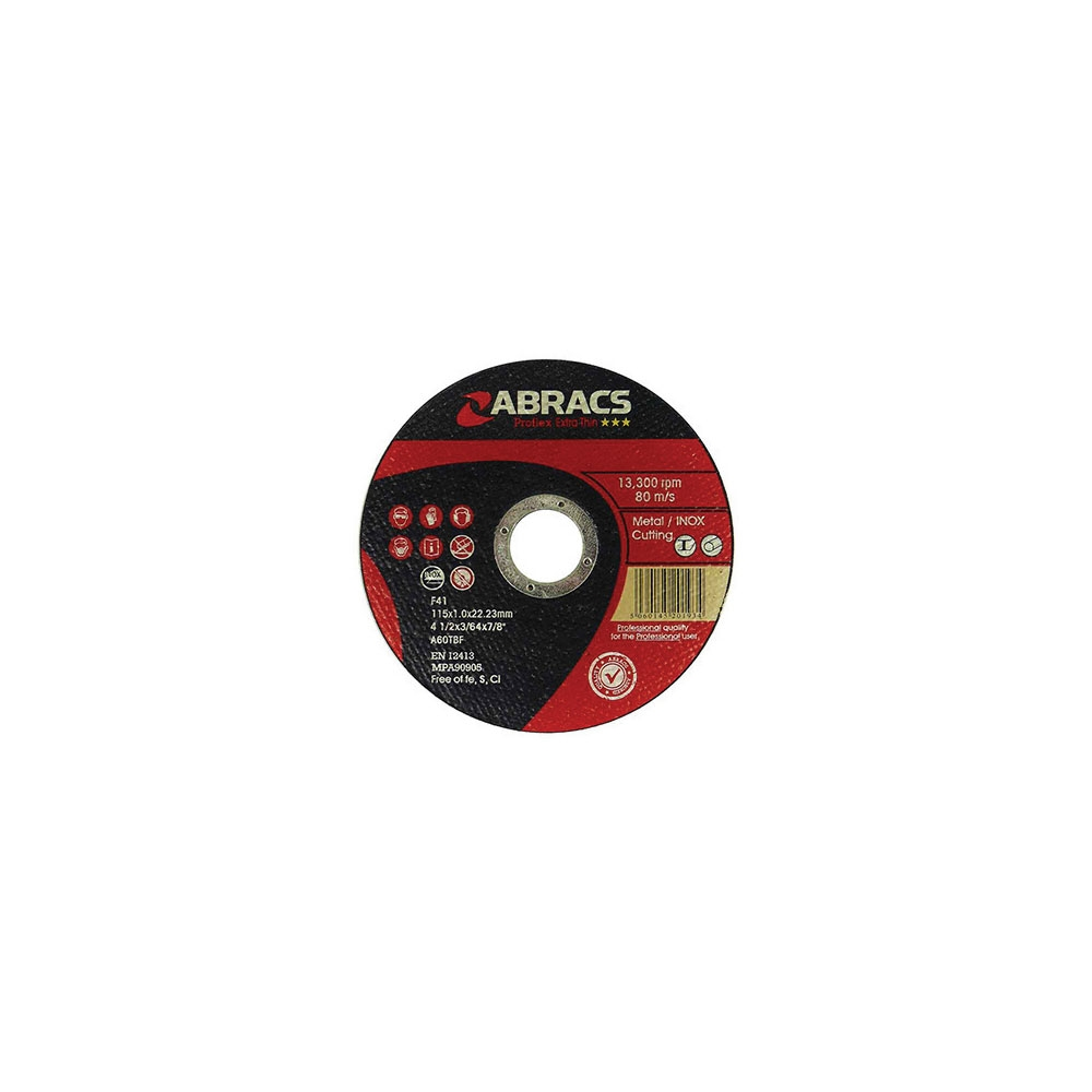Metal Ultra Thin Flat Cutting Discs 115mm x 1mm