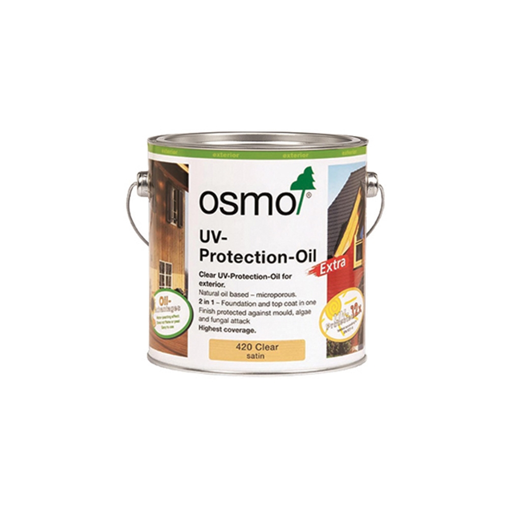 Osmo UV Protection Oil Xtra 420 Clear Satin Matt 2.5 ltr